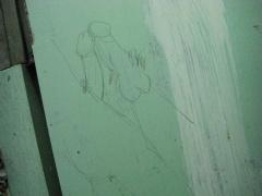 トイレの落書き。2009年9月撮影